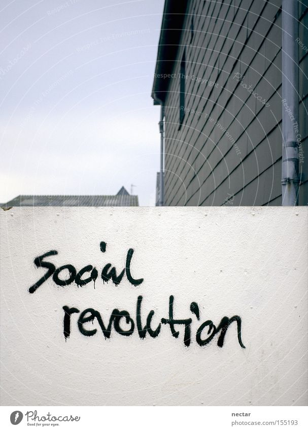 TownShip Wall (barrier) House (Residential Structure) Living or residing Reunification Revolution Graffiti Protest Anger Roof Wall (building) Gray Social White
