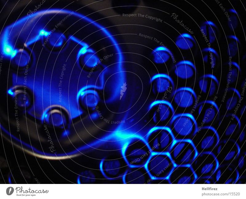 Bizarre Forms Steel Aluminium Silhouette Lighting Photographic technology Profile pinholes blue light