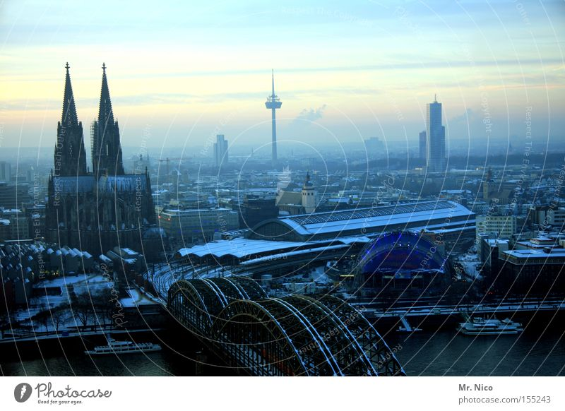 City Large Tourism Vantage point Kitsch Cologne Monument Landmark Downtown Dome Home country House of worship Cologne Cathedral