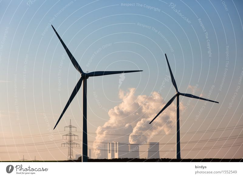 Work and employment Horizon Field Energy industry Authentic Technology Threat Change Hope Smoking Wind energy plant Cloudless sky Relationship Stress Society Sustainability