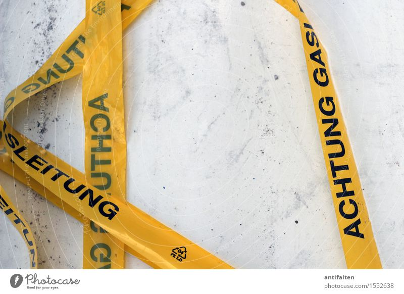 Black Yellow Work and employment Lie Characters Signs and labeling Dangerous Signage Broken Construction site String Plastic Profession Transparent Barrier