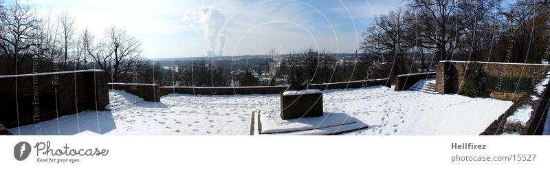 Overview 3 Winter Landscape Lausitz forest Spremberg Sun Snow