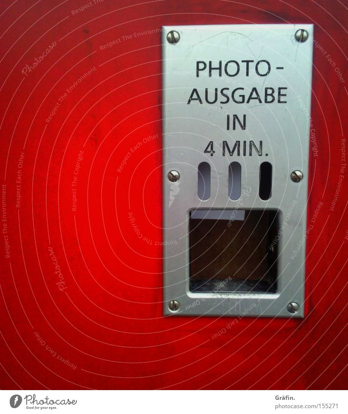 Analog photo output Joy Signage Warning sign Red Nostalgia Developed Passport photograph Iconic Childhood memory Photography photo booth Expenditure fotofix