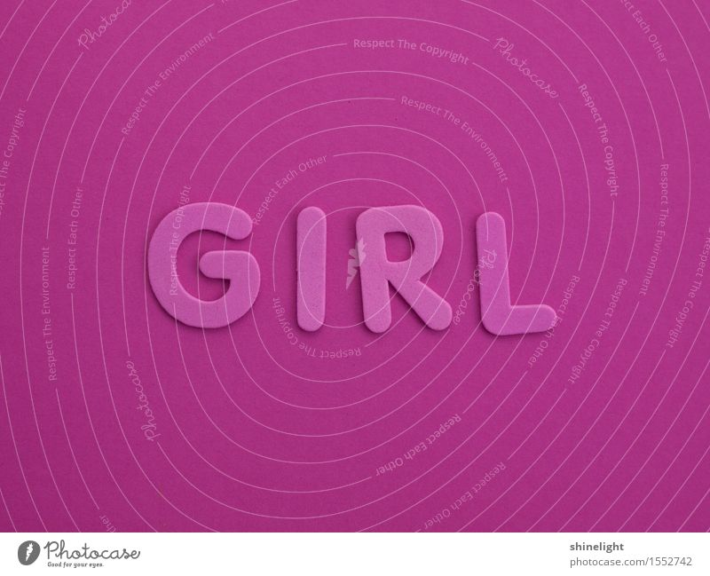 GIRL Child Baby Toddler Girl Characters Pink Young woman Birth Colour photo Copy Space top Copy Space bottom
