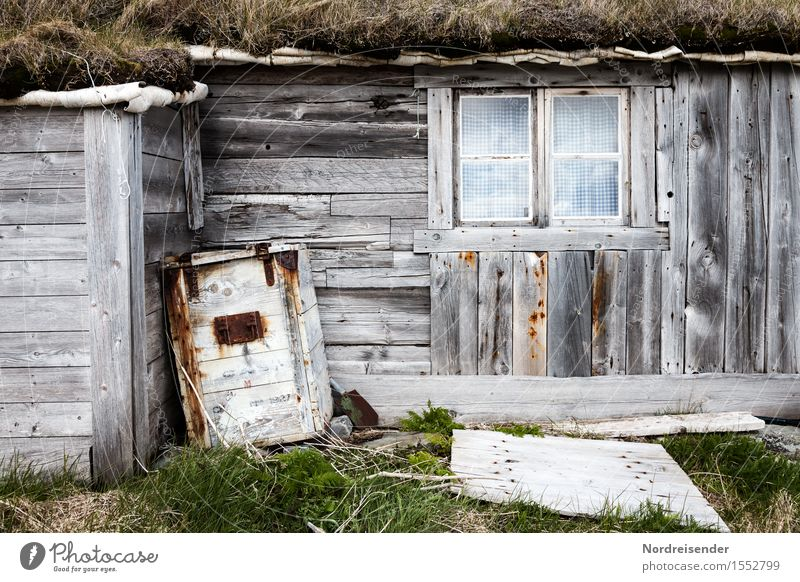 fisherman's hut Far-off places Grass Fishing village Deserted House (Residential Structure) Hut Manmade structures Building Architecture Facade Wood Old