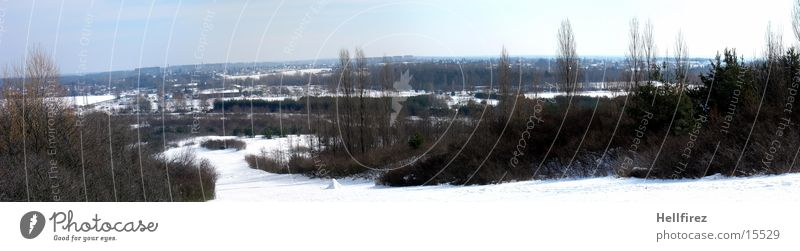 Overview of the Winter Landscape Lausitz forest Spremberg Sun Snow
