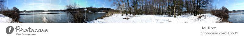 Sun Winter Snow Landscape Nature Reservoir Lausitz forest