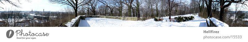 Pano 1 Winter Landscape Lausitz forest Spremberg Sun Snow