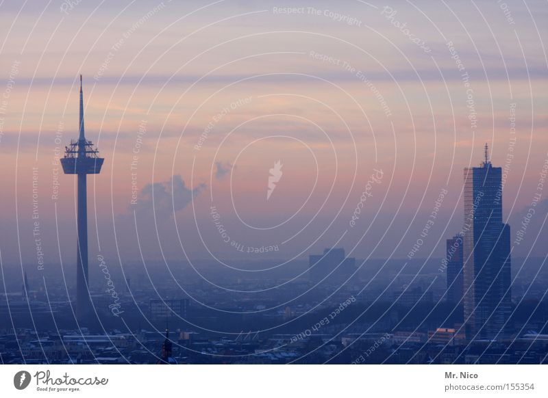 Sky City Horizon High-rise Tower Skyline Cologne Home country Quarter Television tower Homesickness