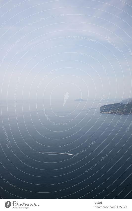 Water Ocean Blue Far-off places Watercraft Horizon France Deep Cliff Mediterranean sea Cassis