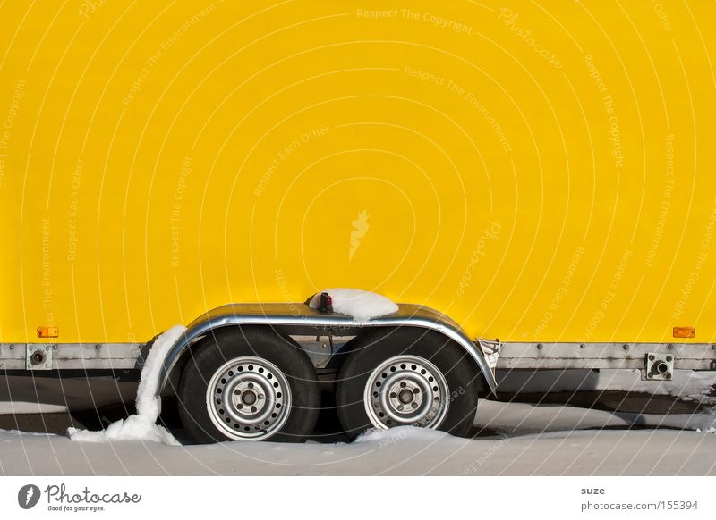 White Winter Yellow Cold Wall (building) Snow Bright Work and employment Transport Crazy Simple Construction site Driving Logistics Wheel Vehicle