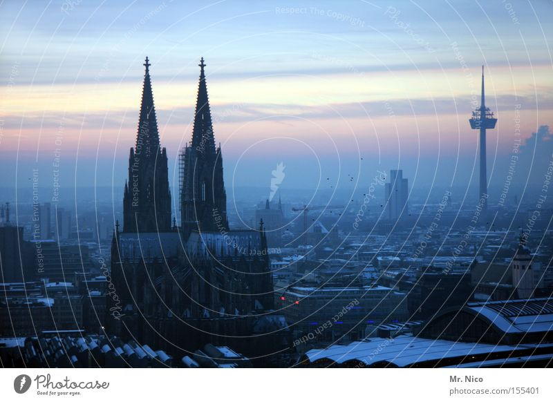Homeland series (4) Town Home country Cologne Cologne Cathedral Landmark Manmade structures Horizon Sunset House of worship Monument Dome