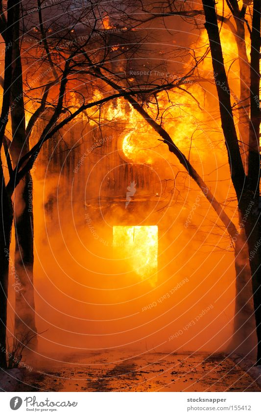 Fire Old House (Residential Structure) Building Blaze Hot Burn Flame Heat Criminality Arson
