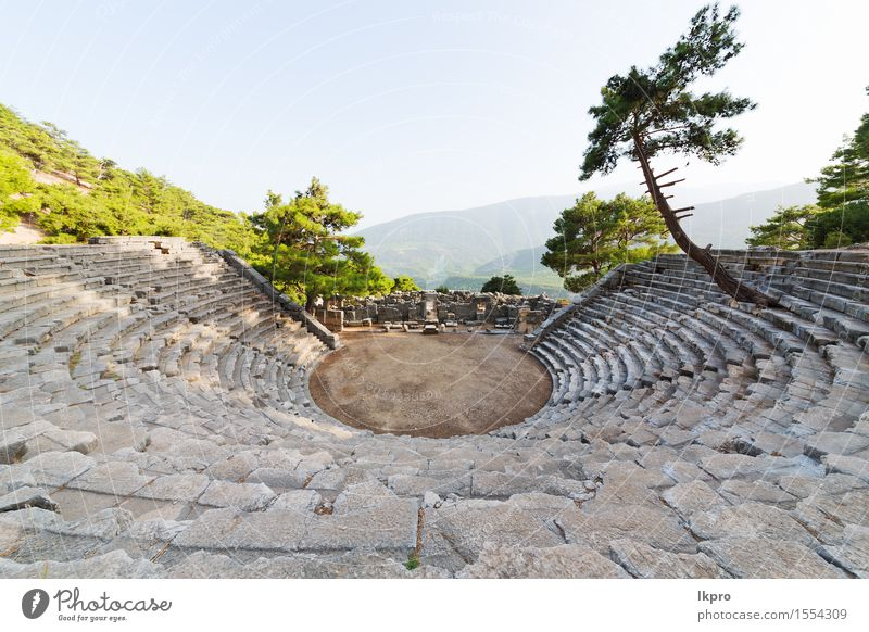 turkey asia sky and ruins Vacation & Travel Mountain Theatre Culture Nature Plant Tree Flower Rock Small Town Ruin Architecture Stone Old Historic Gray Black