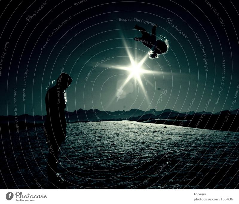 blue planet Life Sun Winter Mountain Human being Alps Doll Think Grief Distress Transience Universe Birth Planet space Aspire Colour photo