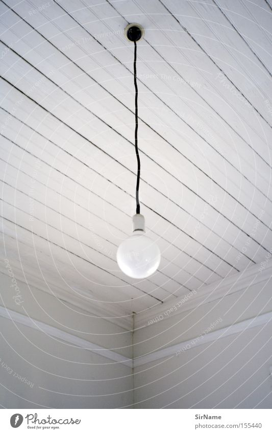 White Lamp Room Living room Electric bulb Ceiling Black & white photo Composing Ceiling light Formal Hanging lamp Wooden ceiling
