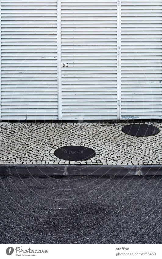 Street Line Asphalt Point Sidewalk Footpath Cobblestones Graphic Section of image Curbside Cladding