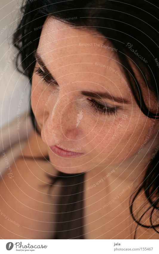 jaclin Woman Face Eyes Beautiful Authentic Dark-haired Looking Thought Serene Open Hair and hairstyles Portrait photograph Emotions
