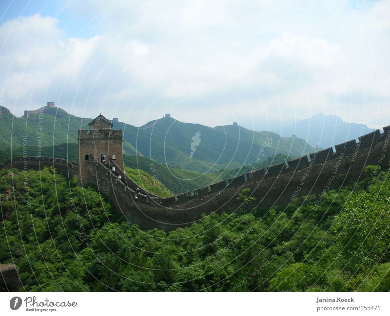 Chinese Wall Wall (barrier) Nature Zen Landscape Culture China Historic Great wall Calm