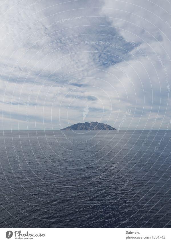 Sky Nature Summer Landscape Ocean Clouds Environment Coast Small Rock Island Climate Elements