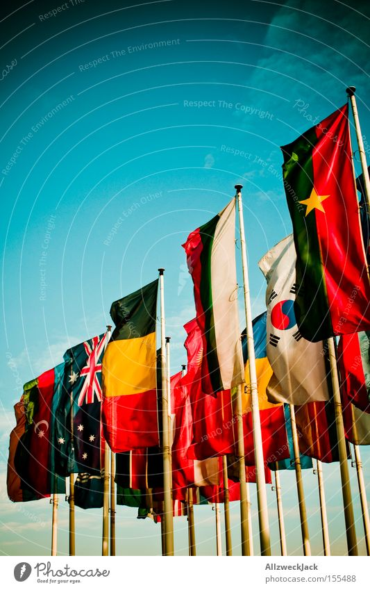 internationally Flag Pennant International Multicultural Together General Peace Exhibition Trade fair Sky Americas National stateconnecting people-encompassing
