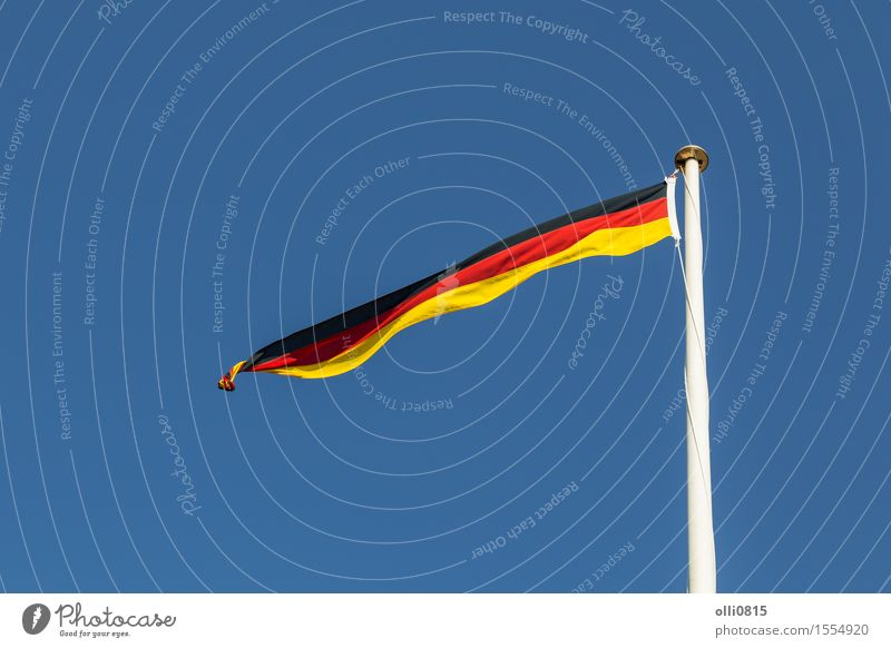 German Flag Sky Summer Red Clouds Feasts & Celebrations Germany Earth Wind Europe Stripe Symbols and metaphors Thin Long Flagpole