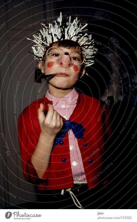 Child Old Joy Playing Nose Mask Carnival Media Self-confident Dress up Thorn Whistle Hedgehog Face Television Imitate