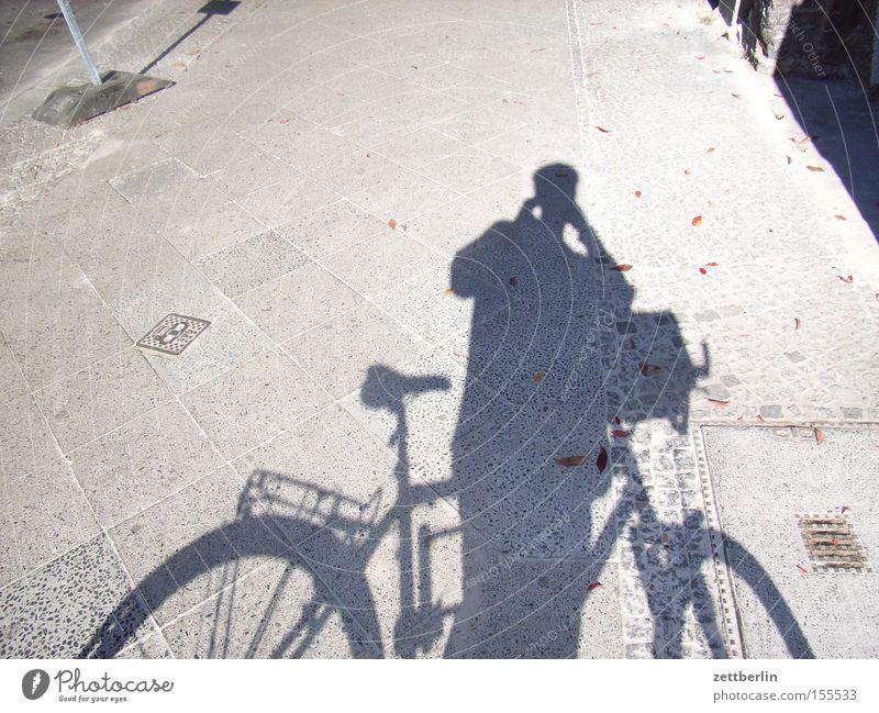Human being Man Playing Bicycle Trip Transport Break Sidewalk Wheel Photographer In transit Take a photo Cycle path