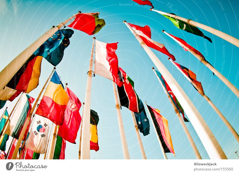 summit Flag Pennant International Americas Countries Australia + Oceania Multicultural Together General Peace Exhibition Trade fair Detail National