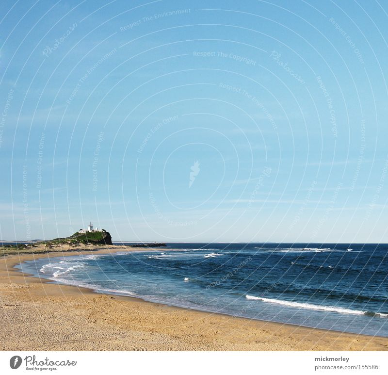 Sky Ocean Summer Beach Far-off places Sand Warmth Lake Waves Horizon Tower Hot Lighthouse Surfer Hissing
