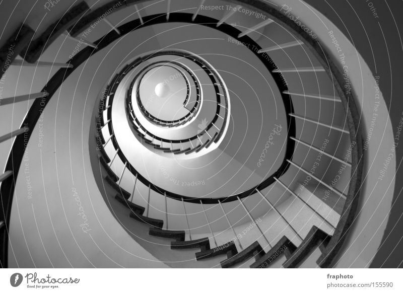 spiral staircase Stairs House (Residential Structure) Round Architecture Depth of field Tall Handrail