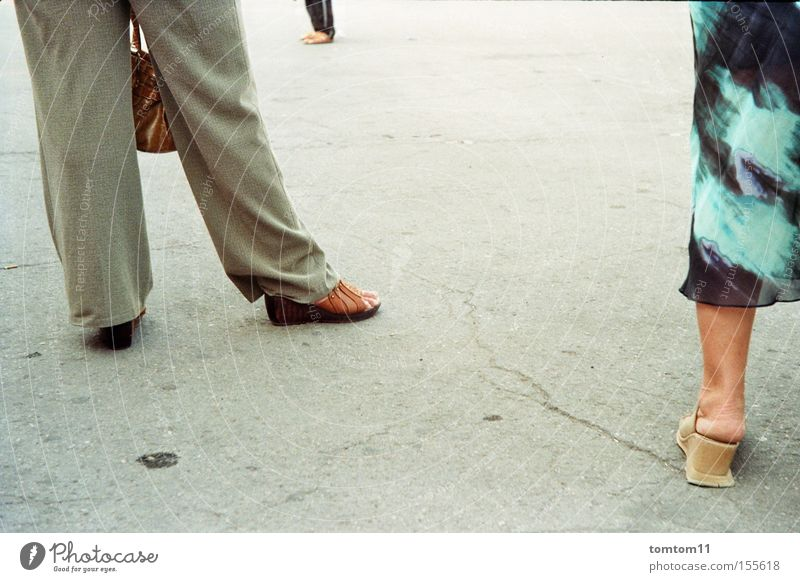 Human being Street Group Gray Footwear Legs Wait Concrete Dress Bag Agree