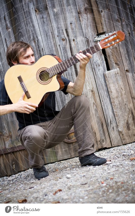 zielsicher Concentrate Youth (Young adults) Music gitarre musik sänger jäger jagt Hit tophit musiker Rocker country instrument holz