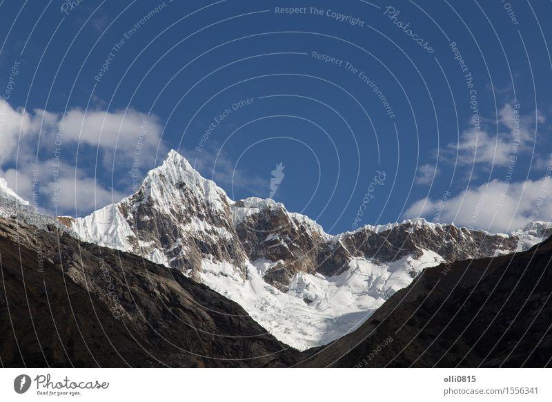 Mount Artesonraju in Peru Vacation & Travel Tourism Mountain Hiking Nature Landscape trek scenery South glaciers cordillera Altimeter Illustration america peak