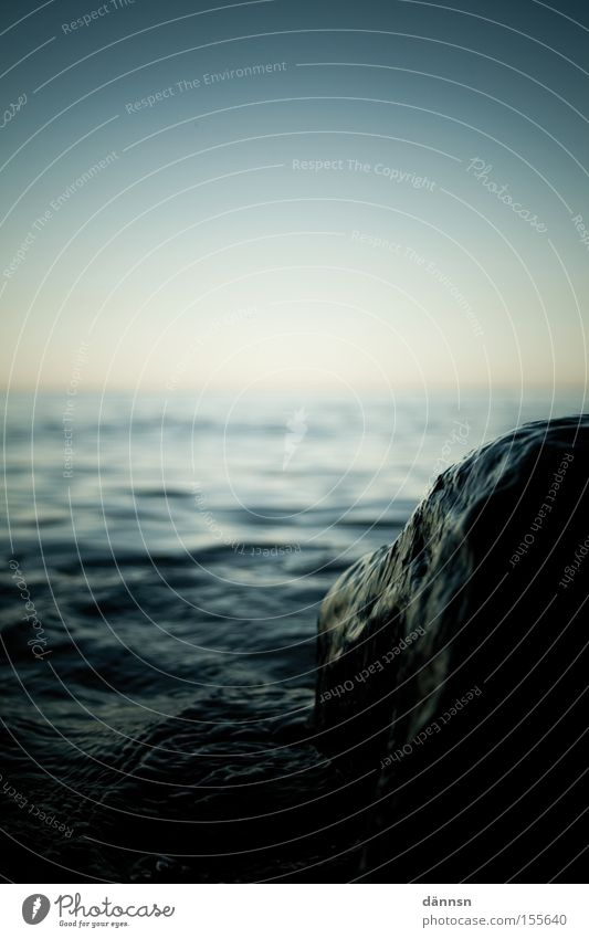 Ocean Beach Dark Stone Waves Baltic Sea Hissing Mecklenburg-Western Pomerania Ahrenshoop