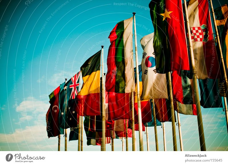 Africa Together Communicate Flag Peace Advertising Europe Countries Americas Trade fair Exhibition International Multicultural Australia + Oceania