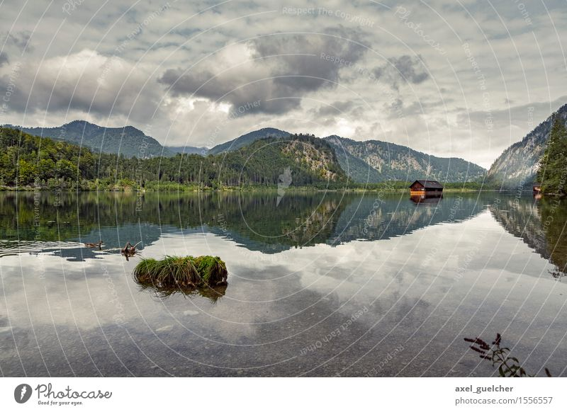 Nature Landscape Dark Mountain Cold Spring Lake Weather Hill Lakeside Hut