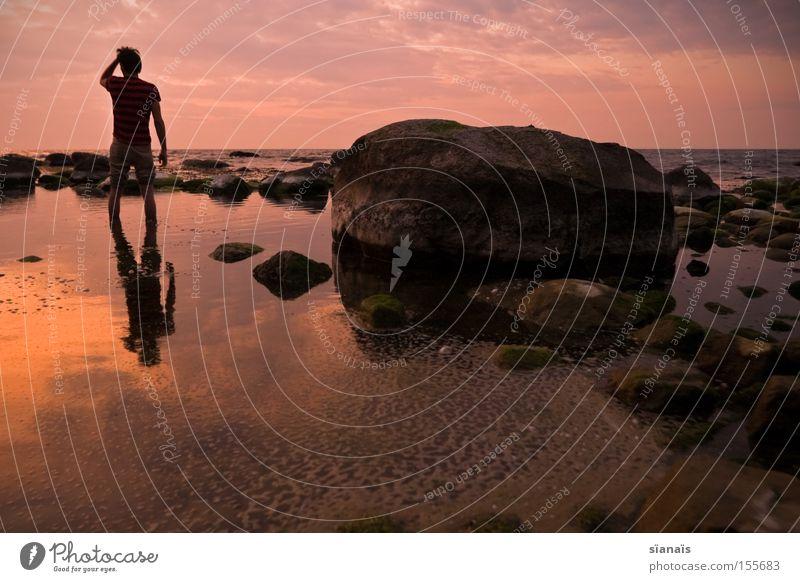 Human being Water Sky Ocean Beach Stone Coast Grief Romance Mirror Distress Goodbye Baltic Sea Wanderlust Rügen Minerals