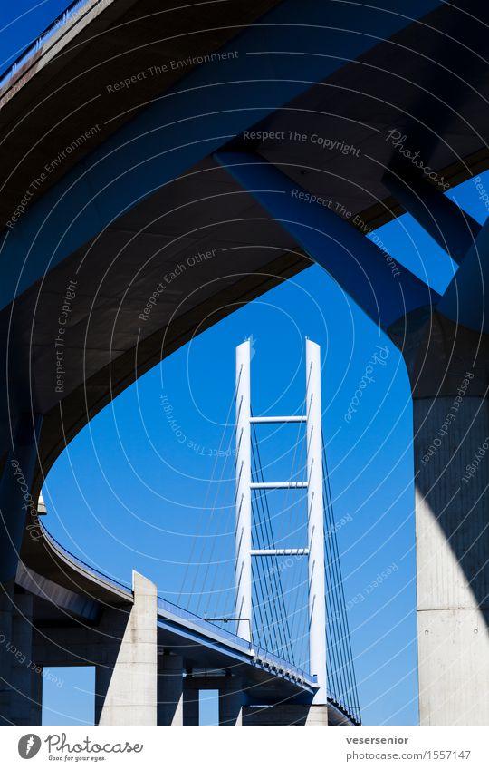 Ruegen Bridge Stralsund Rügen Germany Elegant Tall Strong Blue Safety Esthetic Stress Design Vacation & Travel Competent Mobility Precision Tourism Logistics