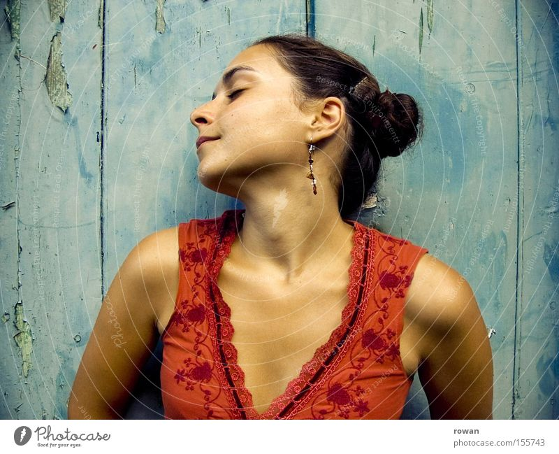 !100! Woman Portrait photograph Warmth Summer Joy To enjoy Relaxation Contentment La Latina please mindful be in the moment