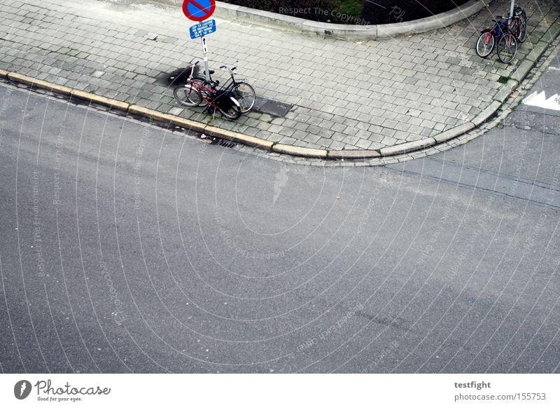 City Street Autumn Gray Sidewalk Curve Parking Bird's-eye view Mixture Belgium Antwerp