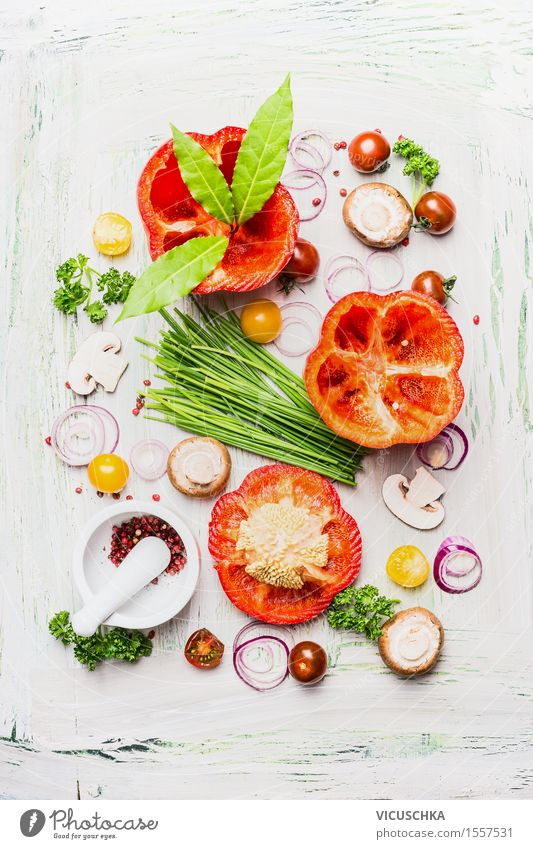 Healthy Eating Life Dish Eating Food photograph Style Food Design Nutrition Table Cooking & Baking Herbs and spices Kitchen Vegetable Organic produce Restaurant