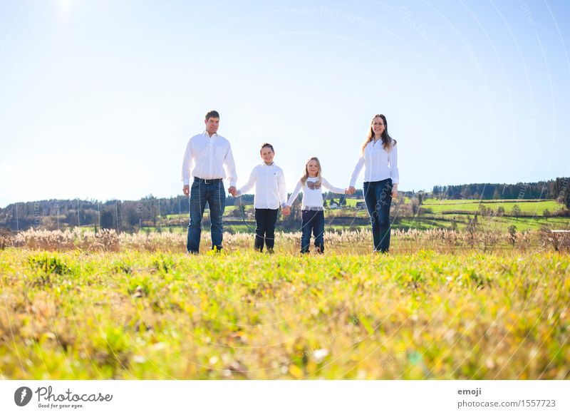 4 Human being Masculine Feminine Family & Relations Group Environment Nature Summer Beautiful weather Meadow Together Happy Natural Domestic happiness