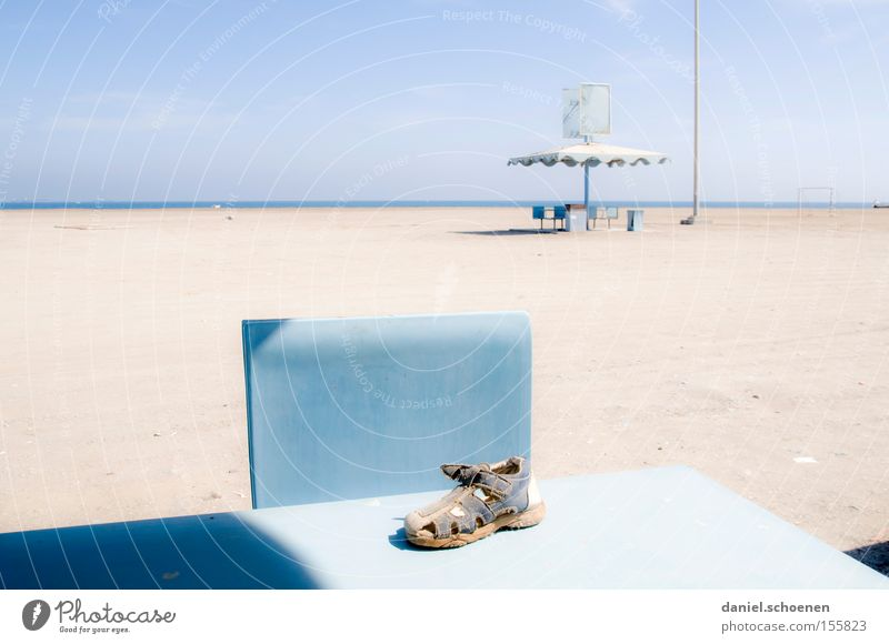 Water Sky White Ocean Blue Beach Vacation & Travel Clouds Coast Horizon Table Derelict Obscure Surrealism