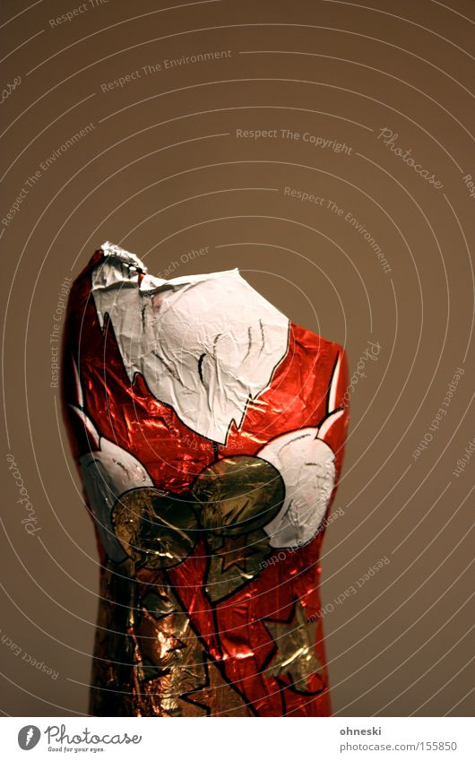 headless Santa Claus Christmas & Advent Chocolate Candy Headless Perplexed Inattentive Nutrition Chocolate Santa Claus