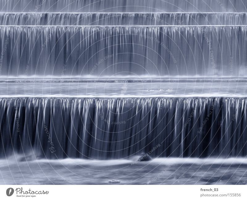 Water Winter Line Corner River Brook Austria Waterfall Flow Crash Hissing Current Gravity Listening Barrage Weir