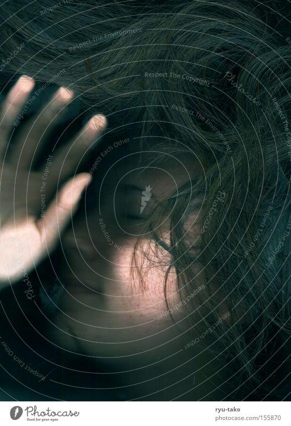 Woman Beautiful Face Calm Dark Hair and hairstyles Dream Sleep Long Light heartedness Imprint Fingerprint