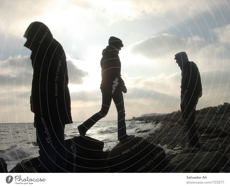 Water Ocean Winter Vacation & Travel Calm Relaxation Stone Coast Hiking Rock Longing Lakeside Baltic Sea Denmark Langeland