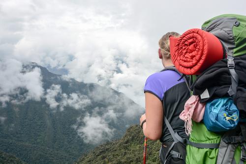 Vacation & Travel Landscape Clouds Far-off places Mountain Freedom Tourism Hiking Vantage point Trip Joie de vivre (Vitality) Adventure Target Climbing