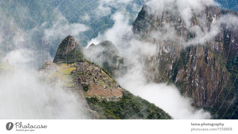 Old summit Vacation & Travel Tourism Adventure Mountain Hiking Landscape Clouds Peak Machu Pichu Peru South America Ruin Tourist Attraction Landmark Inca
